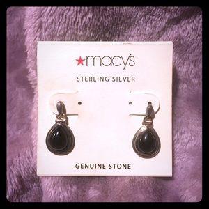 Jewelry - .925 Sterling Onyx Earrings
